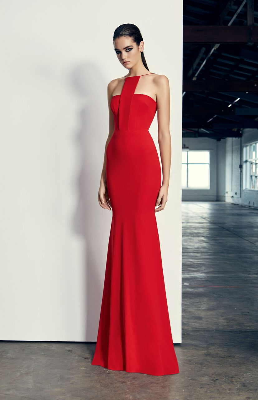 SALE] JAMISON gown red by ALEX PERRY #D223 | Ganache Boutique