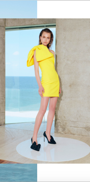 528466b717fe PRE-PURCHASE] HAMPTONS BOW dress yellow by REBECCA VALLANCE #1804 ...